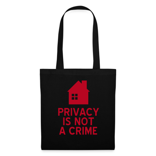 Privacy is not a crime  Stofftasche - Stoffbeutel