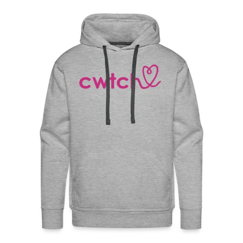 Cozy cwtch heart hoodie for girls or boys.  - Men's Premium Hoodie