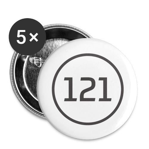 25mm Button - Buttons klein 25 mm (5er Pack)