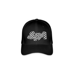 schwarzes SKA Cap mit weissen Aufdruck - Flexfit Baseballkappe