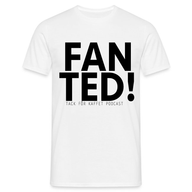 """FAN TED"" (VIT) - t-shirt (herr)"
