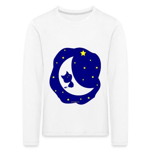 Gato de la Luna - Camiseta de manga larga premium niño