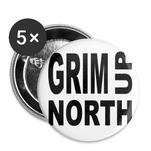 GrimUpNorth Badgepin - Buttons small 25 mm