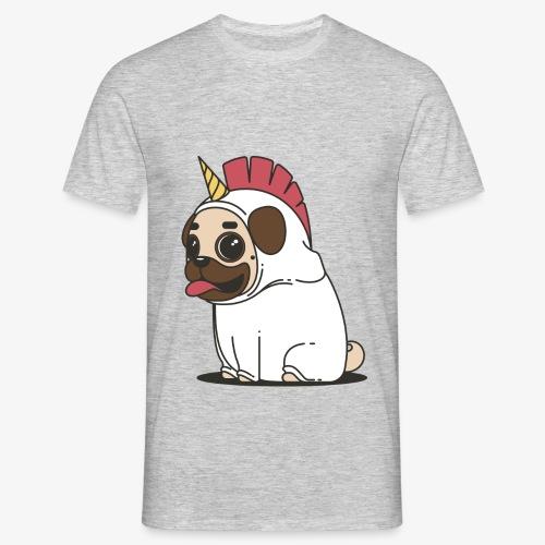 Unicorn pug - Men's T-Shirt