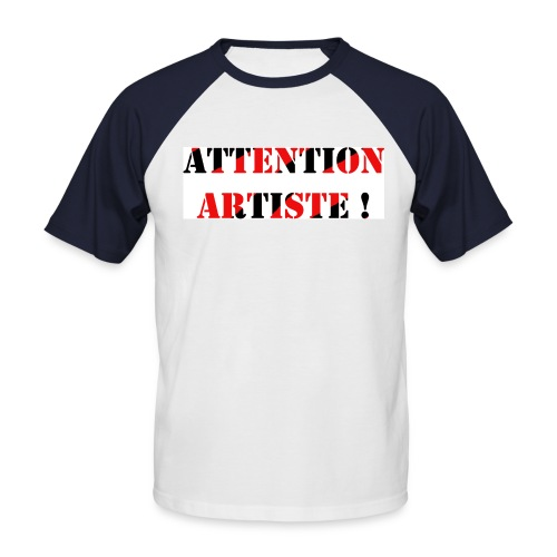 Attention raglan ! - T-shirt baseball manches courtes Homme