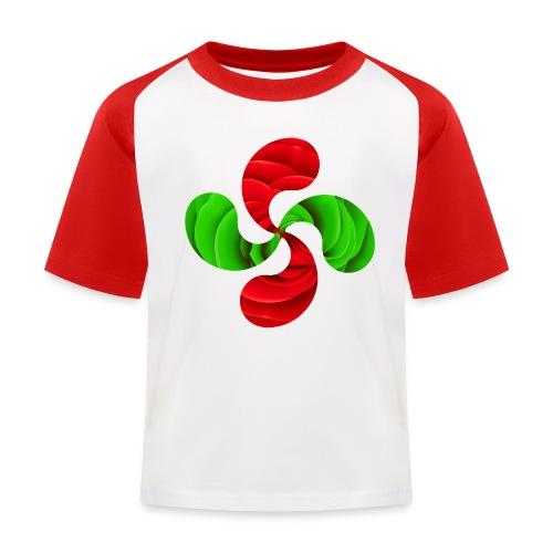 Croix Basque Lauburu - T-shirt baseball Enfant