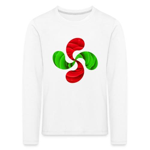 Croix Basque Lauburu - T-shirt manches longues Premium Enfant
