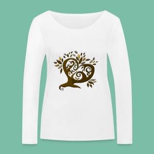 t-shirt bio manches longues Arbre coeur - T-shirt manches longues bio Stanley & Stella Femme