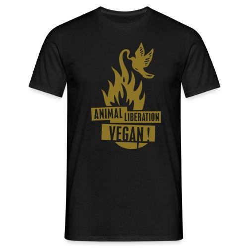 Mens 'ALV + vegan', beidseitig - Männer T-Shirt