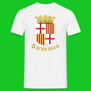 Barcelona mannen t-shirt wit - Mannen T-shirt