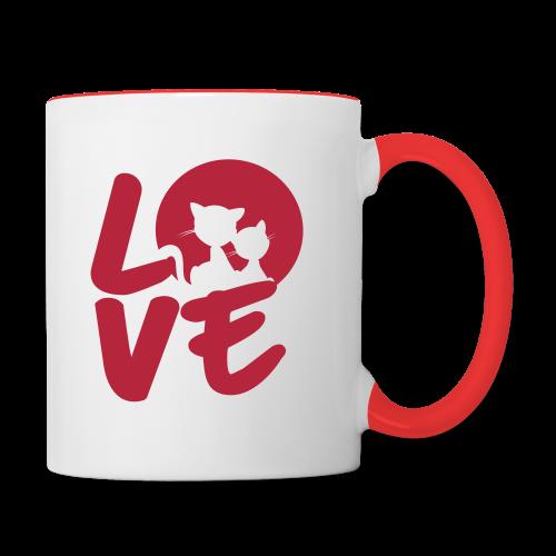 lovecats - Tasse zweifarbig