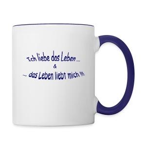 Ich liebe das Leben ...  - Tasse zweifarbig