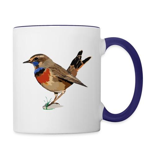 Blaukehlchen - Tasse zweifarbig