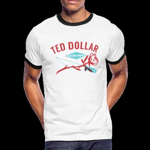 Rose et couteau - T-shirt contrasté Homme