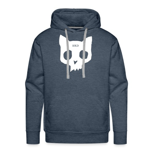 Cat Skull teal front - Men's Premium Hoodie
