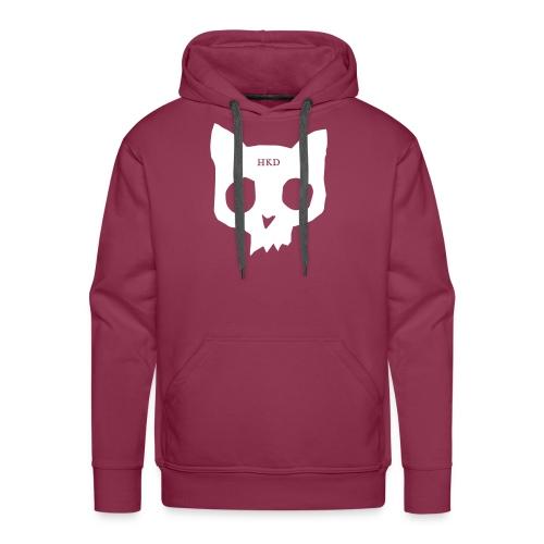 Cat Skull maroon front - Men's Premium Hoodie