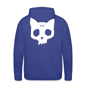 Cat Skull purple back print - Men's Premium Hoodie