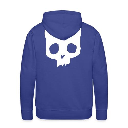 Cat Skull purple back print - Men's Premium Hoodie