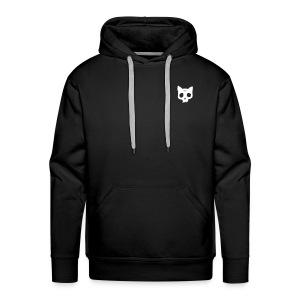 Cat Skull black back print - Men's Premium Hoodie