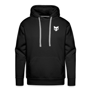Cat Skull black back print - Men's Premium Hoodie