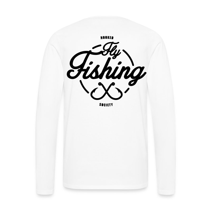 Fishing long sleeve white - Men's Premium Longsleeve Shirt