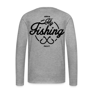 Fishing long sleeve grey - Men's Premium Longsleeve Shirt