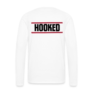 Puck logo long sleeve white - Men's Premium Longsleeve Shirt