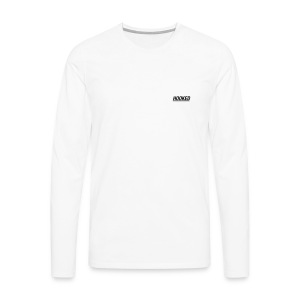 Logo sleeve white - Men's Premium Longsleeve Shirt