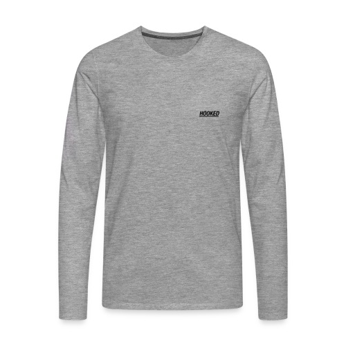 Logo sleeve grey - Men's Premium Longsleeve Shirt