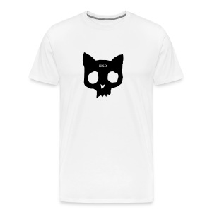 Cat Skull black on white - Men's Premium T-Shirt