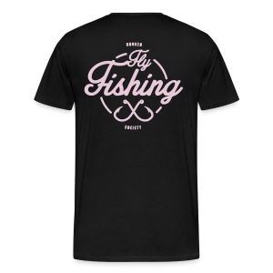 Fishing pink on black - Men's Premium T-Shirt