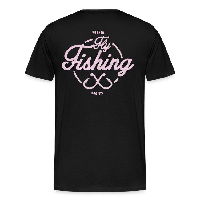 Fishing pink on black