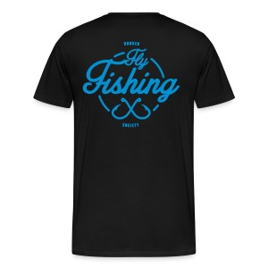 Fishing blue on black - Men's Premium T-Shirt