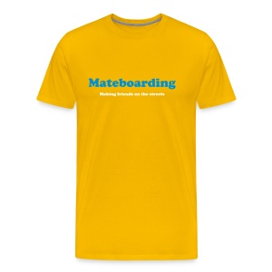 Mate boarding yellow - Men's Premium T-Shirt
