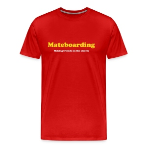 Mate boarding red - Men's Premium T-Shirt