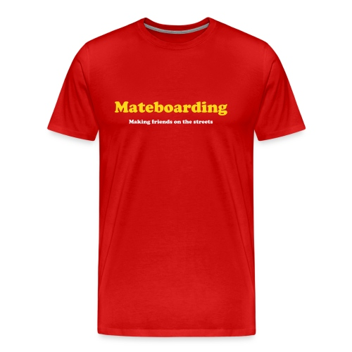 Mate boarding red - Men's Premium T-Shirt