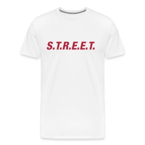 Street t-shirt red on white - Men's Premium T-Shirt