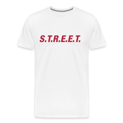 Street t-shirt red on white - Men's Premium T-Shirt