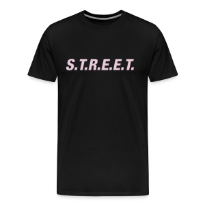 Street t-shirt pink on black - Men's Premium T-Shirt
