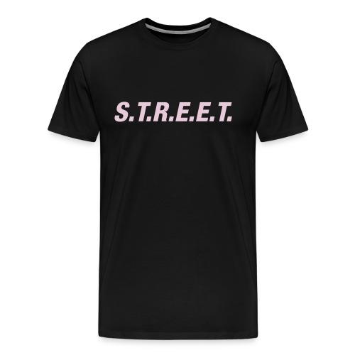 Street t-shirt pink on black - Men's Premium T-Shirt