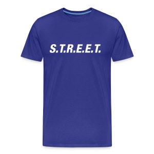Street t-shirt white on purple - Men's Premium T-Shirt