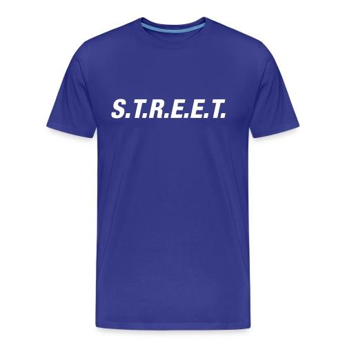Street t-shirt white on purple - Men's Premium T-Shirt