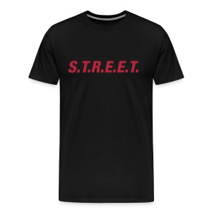 Street t-shirt red on black - Men's Premium T-Shirt