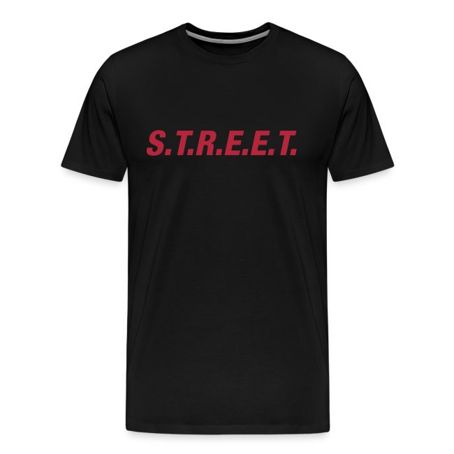 Street t-shirt red on black