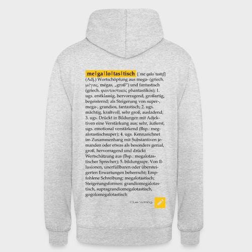 Megalotastisch | Unisex Hoody (Hellgrau Meliert, Design hinten) - Unisex Hoodie