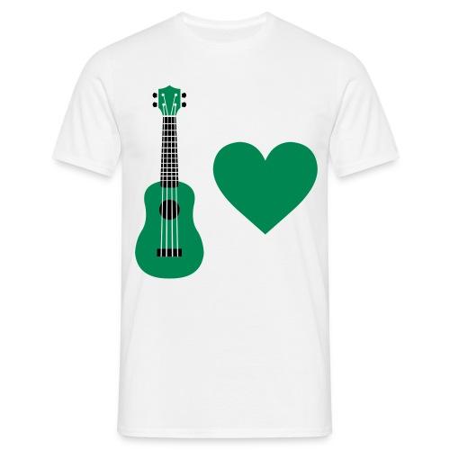 Ukulele Love - Green - Men's T-Shirt