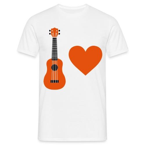 Ukulele Love - Orange - Men's T-Shirt