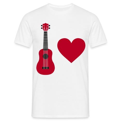 Ukulele Love - Red - Men's T-Shirt