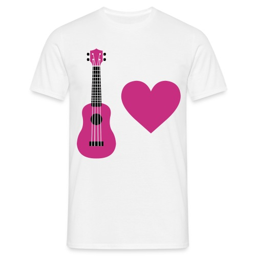 Ukulele Love - Mighty Pink - Men's T-Shirt