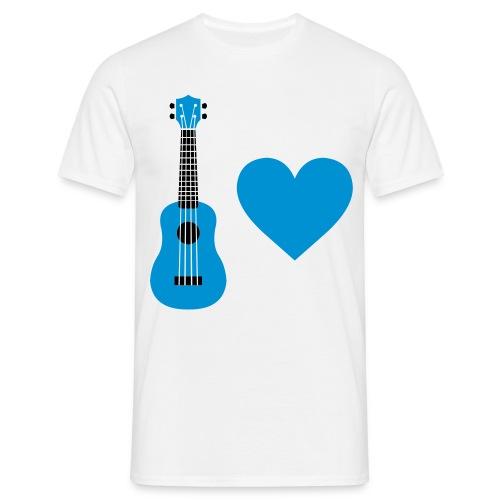 Ukulele Love - Blue - Men's T-Shirt